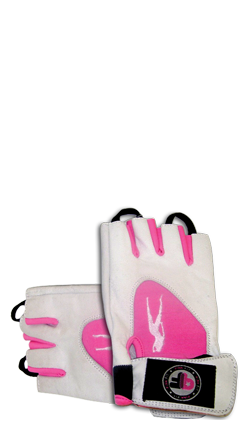 Pink Fit Gloves (blanco-rosa)