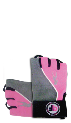 Pink Fit Gloves (gris-rosa)